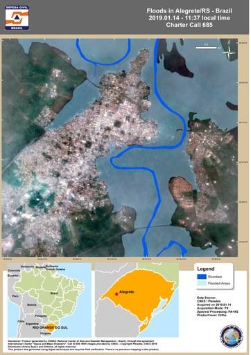 Inundação em Alegrete/RS
