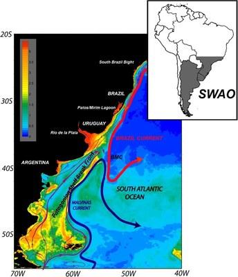 Circulação esquemática na SWAO