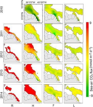 Estimativa do fluxo de CO2 para a pluma do Rio Amazonas com produtos SMOS
