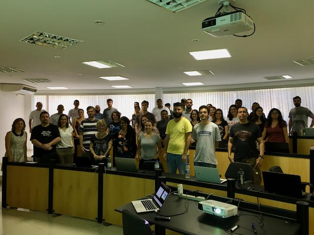 Alunos do Curso de Verão em Geoinformática e Ciência de Dados - 2020